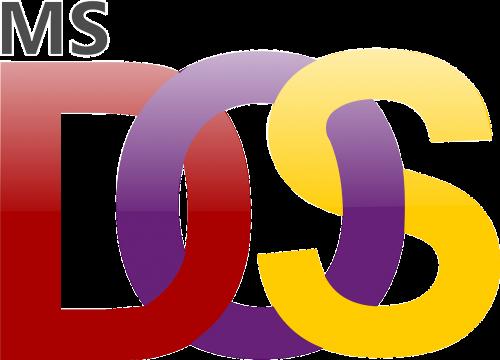 microsoft,dos,ms,logotipas,Operacinė sistema,kompiuteriai,sistema,skaičiavimas,nemokama vektorinė grafika
