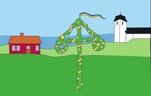vasaros sezonas,Švedijos vėliava,Nacionalinė diena,vasaros atostogos,Švedijos vėliava,galiolė,Švedijos,Švedija,nemokama vektorinė grafika