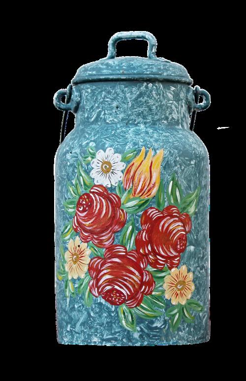 pieno gali,dažymas,ornamentas,deko,apdaila,dažytos,puodą,gėlės,valstiečių tapyba,valstiečių menas,dekoravimo dirbiniai,izoliuotas