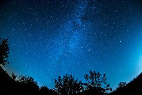 paukščių takas,Žvaigždėtas dangus,dangus,žvaigždė,naktinis dangus,erdvė,naktis,vakaras,kosmosas,vakarinis dangus,nuotaika,tamsi,galaktikos,ilga ekspozicija,visata,astro,fonas,miškas,žibintai,žvaigždynas,Fisheye,tekstūra,medžiai,twilight