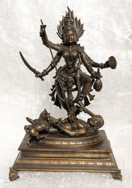 miniatiūrinė bronza,deivė,dussehra,durga puja,Mahishasura mardini,hinduizmas,Indija,Pietų Indija,durga