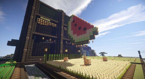 Minecraft,pikselių menas,arbūzas,ūkis,medžių ūkis,minecraft ūkis