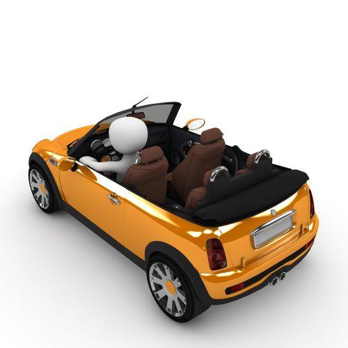 mini,kabrioletas,vairuotojas,viršuje,vairuoti,kabrioletas,transporto priemonė,kabrioletas vairuotojas