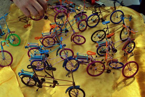 dviratis, dviračiai, amatai, dviračiai, naminis, miniatiūriniai dviračiai
