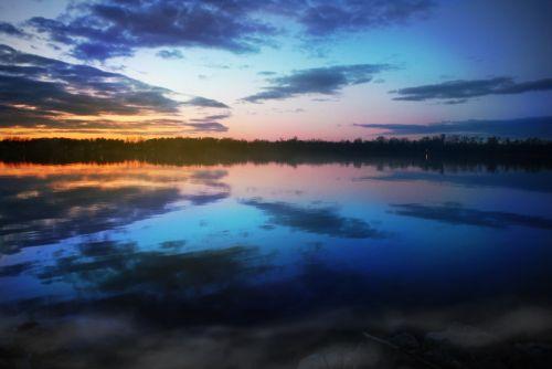 migla, dusk, vanduo, kraštovaizdis, upė, Krantas, naktis, saulėlydis, miglotas krantas