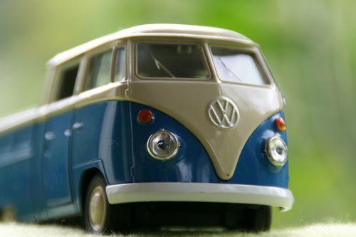 modelis automobilis,autobusas,vw autobusas,Volkswagen,kemperis,kempingų autobusas,Volkswagen,metalo lakštai,mėlynas,scheinwerfer,šviesa