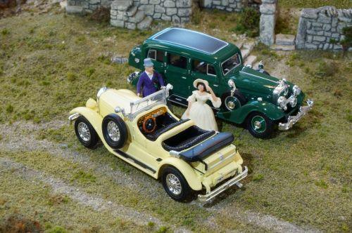 modeliniai automobiliai,dioramas,mercedes 630 k,Horch 851,pullmann,Ricko,h0,1 87,žaislai,masto h0,hobis,modelio geležinkelis