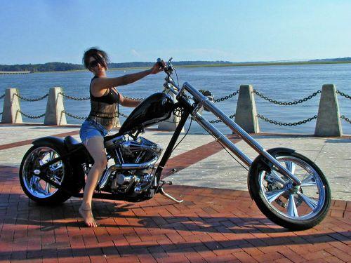 karštas, mergaitė, vasara, motociklas, jaunas, Lady, modelis, modeliavimas, kelti, kelia, modeliavimas ant motociklo 1