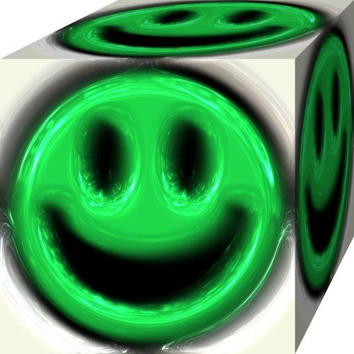 veidas, spalva, kreminės, dizainas, skystis, karštas, izoliuotas, skystas, ištirpsta, ištirpintas, dažytos, šypsena, smiley, plastmasinis, žalias, kubas, išlydytas veidelis 2