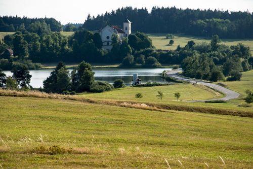 vienuolynas,kraštovaizdis,Čekijos Respublika,tvenkinys,kelias,desolate,paminklas