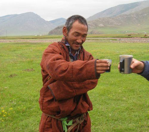 Mongolija,stepė,piemenys,kava,Draugystė