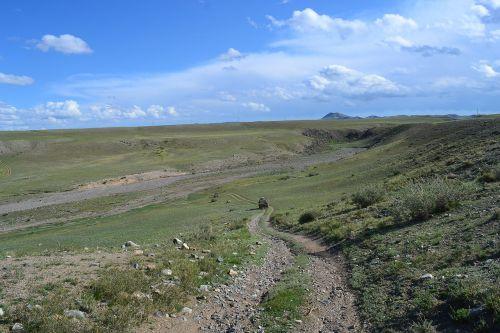 Mongolija,stepė,trasa,4x4