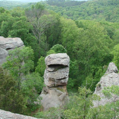 akmenys, formavimas, beždžionė & nbsp, veidas, medžiai, gamta, kraštovaizdis, beždžionių veidas