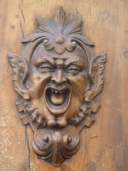 monstras, durys, baugus, Senovinis
