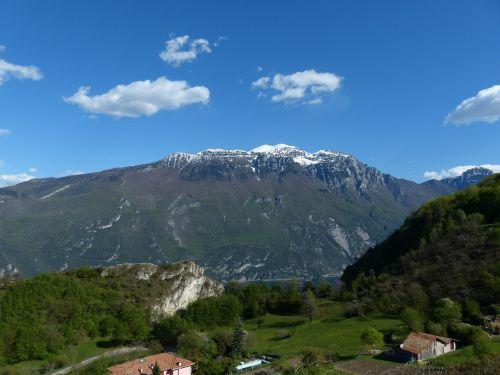 Aukštas Kalnas, Monte Altissimo Modenoje, Kalnų, Garda, Garda Kalnai, Monte Baldo Tvirtas, Monte Baldo, Summit, Snowy, Pregasina