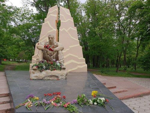 paminklas, Afgan, paminklas kareiviui, paminklas afganai, gėlė, Religija, Niekas, Sodas, vasara, medis