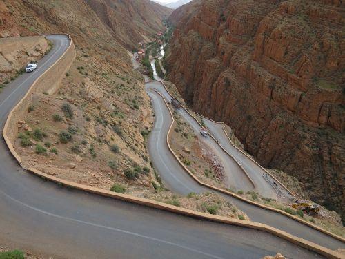 Marokas,kelias,kraštovaizdis,dykuma,dykumos kelias