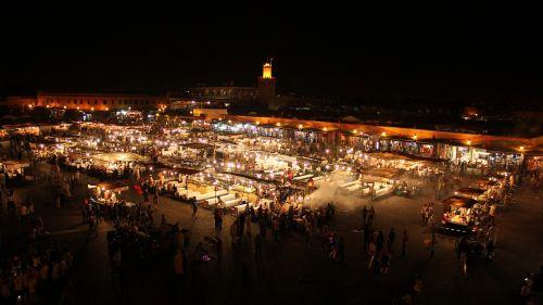 Marokas,marrakechas,naktis,kvadratas,miestas,turistų atrakcijos,Turistų kelionės tikslas,centras,Jemaa el fna aikštė
