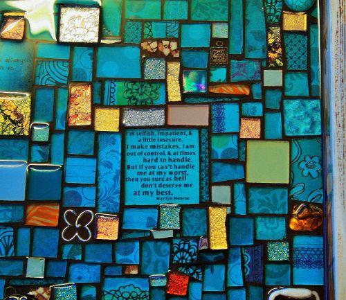 mozaika, menas, amatų, rankų darbo, įgūdis, patrauklus, bliuzas, aquas, mozaikos rankų darbo