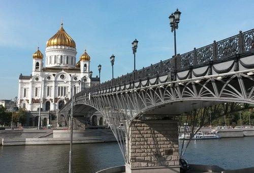Maskva, Rusija, šventykla, tiltas, upė, Maskvos upės, katedra, Quay, architektūra, Lankytini objektai, Turizmas, kelionė