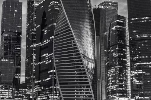Maskvos miestas,architektūra,miestas,Miestas,Rusija,moscow,pastatas,juoda,juoda ir balta,stilingas,verslas,kelionė,москва сити,pastatai,miestas,aukštumų