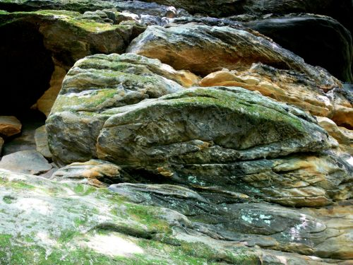 samanos, samanos, kerpės, Rokas, akmenys, rieduliai, minkštas, žalias, abstraktus, graži, gamta, natūralus, samanos ir kerpių akmenimis