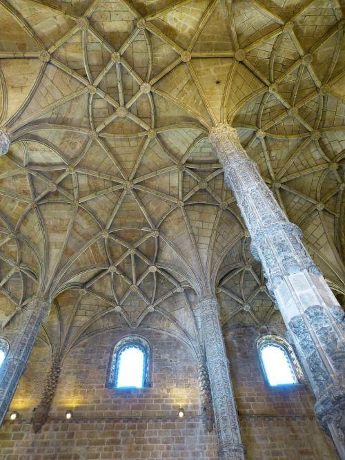 Mosteiro Dos Jerónimos, Jeronimo Vienuolynas, Skydas, Bažnyčia, Belem, Manueline, Pastatas, Unesco Pasaulio Paveldas, Lisbonas, Lisboa, Portugal