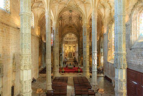 Mosteiro Dos Jerónimos, Lisbonas, Portugal, Unesco Pasaulio Paveldas, Jeronimo Vienuolynas, Bažnyčia