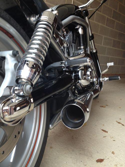 motociklas, chromas, išmetimas, harley, sustabdymas