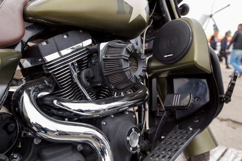 motociklas,chromas,išmetimas,krupni planas