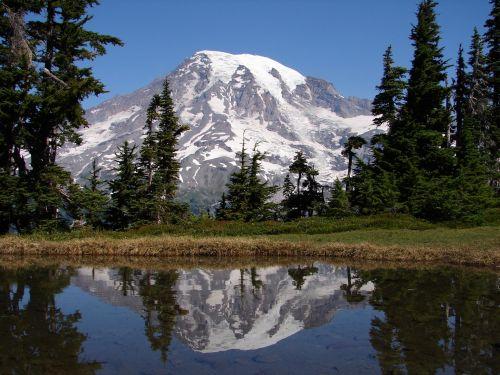 Mount & nbsp, rainier, kalnas, ežeras, atspindys, kraštovaizdis, vaizdingas, vanduo, viešasis & nbsp, domenas, ns, tapetai, fonas, tatuosas & nbsp, kalnų & nbsp, asortimentas, kalnas & nbsp, lietaus ir nbsp, nacionalinis & nbsp, parkas, Vašingtonas, usa, Šiaurės vakarai, Ramiojo vandenyno regionas, kalnelis lietaus