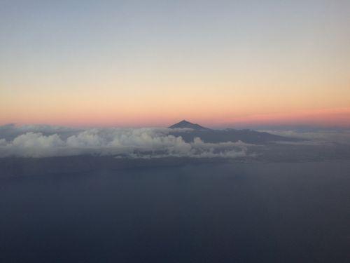 kalno teide,Tenerifė,saulėlydis