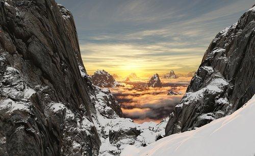 kalnų, sniegas, didelis, šalto, sp, perduoti, Rokas, Summit, kaina, peizažas, sniego kalnų, lauko, alpinizmas, alpinizmas, Alpine, Alpės, Alpinizmas, Nuotykių, Extreme, kietas, saulėlydžio, Sunrise, vakare, Top, ekspedicija