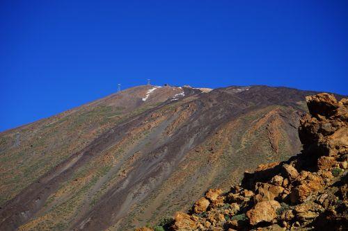 kalnas,vulkanas,teide,lava,lavos laukai,lavos srautas,nusmukęs,Trist,Karg,mėnulio kraštovaizdis