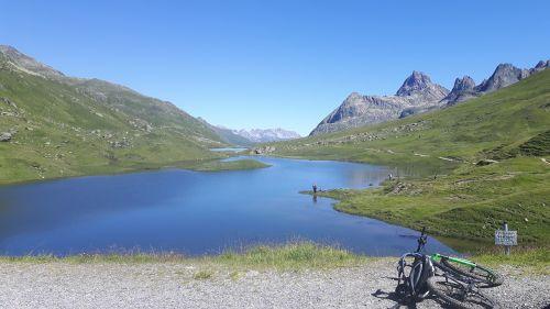 kalnų dviratis,Bergsee,žvejys