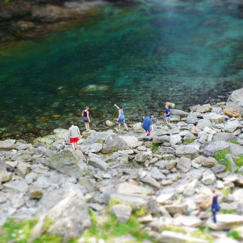Kalnų Upelis, Upė, Ticino, Maudytis, Vanduo, Verzasca, Tentinis Poslinkis
