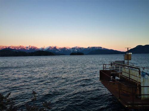 kalnų saulėlydis,rusty dokas,vandenynų saulėlydis