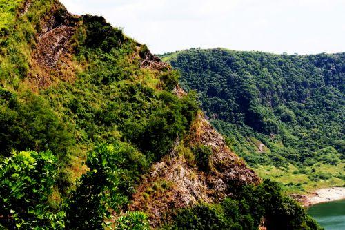 kalnas, žalias kalnas, debesys, gamta, miškas, medžiai, lapai, žalias, aukštas & nbsp, kalnas, didelis & nbsp, kalnas, kalno viršūnė