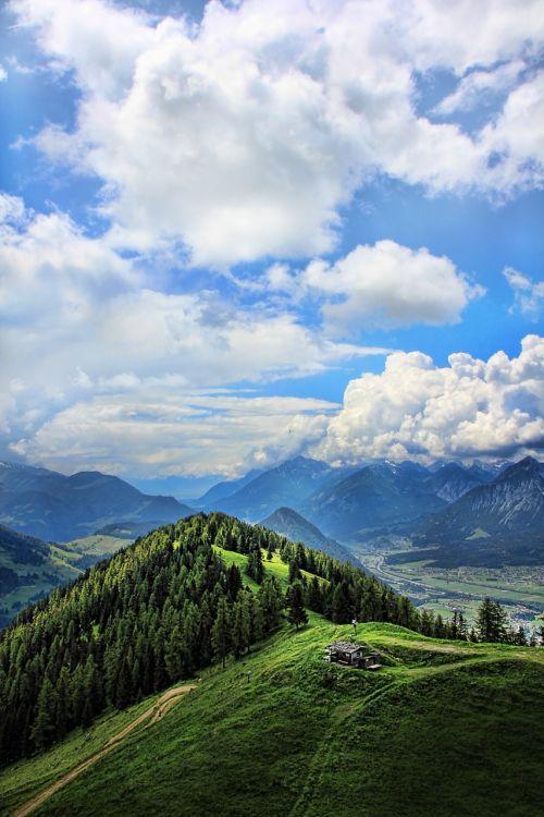 kalnų pasaulis,kraštovaizdis,kalnai,alm,Alpių namelis,Alpių pieva,austria,gamta,Alpių,dangus,Intalto slėnis