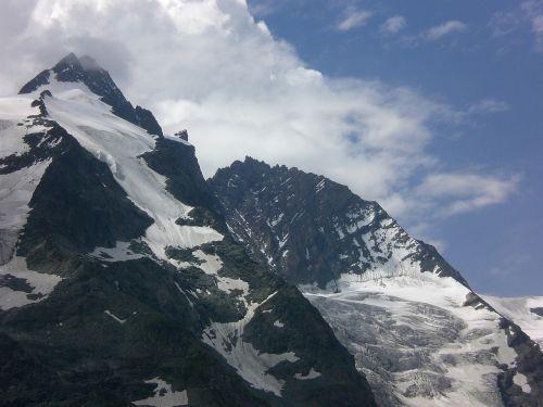 Kalnai, Blogas Oras, Oras Priekyje, Grossglockner, Debesys, Mėlynas, Pilka, Akmuo