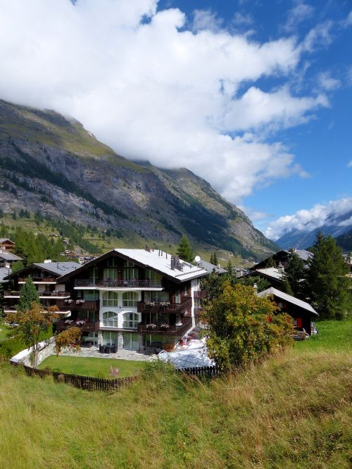 Kalnai, Šveicarija, Zermatt, Namai