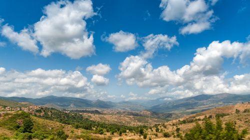 kalnai,kabiley,Algeria,kraštovaizdis,debesys,dangus,Viduržemio jūros,dengtas dangus