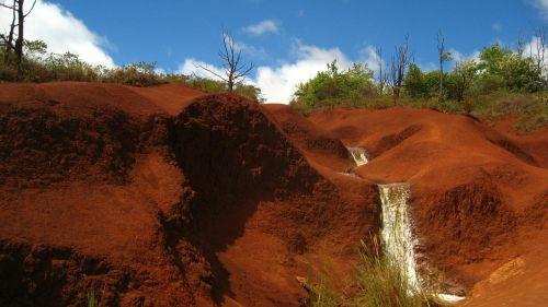 kalnai,vanduo,krioklys,natūralus vanduo,gražus,raudona,akmenys,panorama,debesys,dangus,peizažas,kraštovaizdis,gamta,natūralus,Arizona,Hawaii,vasara,dykuma,žalias,mėlynas,fonas,debesis,svajingas