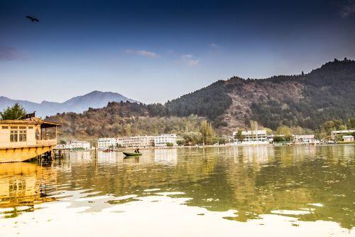 kalnai,ruduo,spalvingas dangus,spalvos,žiemos spalvos,kraštovaizdis,juodai baltas kraštovaizdis,dal ežeras,naminiai valtys,valtys,valtys su kambariais,prabangūs kambariai,vanduo,medžiai,kašmyras,srinagaras,plaukiojantys namai