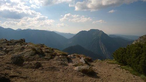 kalnai, takas, pėsčiųjų takas, žygiai, pėsčiųjų takai, Lenkija, Turizmas, tarpiklis, kelias, pobūdį, kraštovaizdis, takas, akmenys, šventė, Top, miškas, medis, Kalnų takas, Kalnų žygiai, akmenys, vasara, kelionė