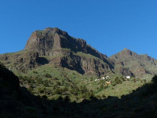 kalnai,Bergdorf,masca,maska ravis,Rokas,Gorge,žygis,Tenerifė,Kanarų salos,Teno kalnai