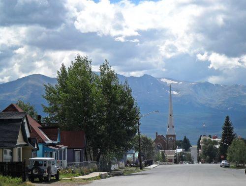 kalnai,gatvė,kelionė,Colorado,debesys,leadville colorado