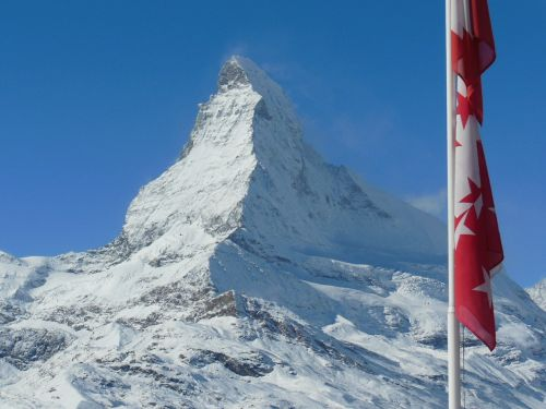 Kalnai, Ledinis, Šveicarija, Valais, Zermatt, Matterhorn