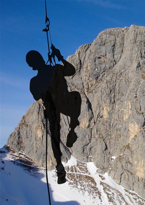 kalnai, Alpių, alpinizmas, lipti, lynai, atsarginė kopija, ascender, bergsport