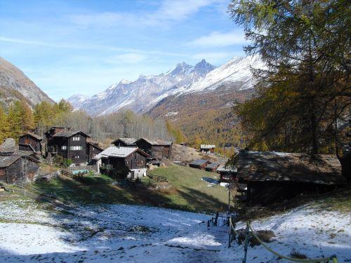 Kalnai,  Zermatt,  Pavasaris,  Šveicarija,  Alpinis